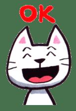 White cat sticker #543138