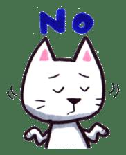 White cat sticker #543139