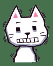 White cat sticker #543147
