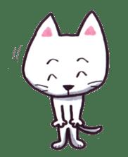 White cat sticker #543149