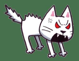 White cat sticker #543150