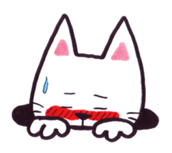 White cat sticker #543151
