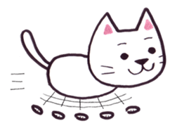 White cat sticker #543152