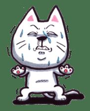 White cat sticker #543153