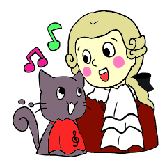 Mozart and the Music cat