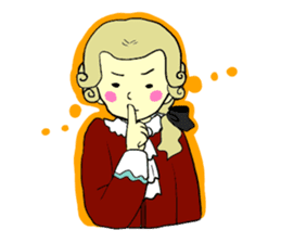 Mozart and the Music cat sticker #545047