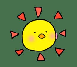 The chicken of a red cheek sticker #545159
