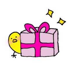 The chicken of a red cheek sticker #545181