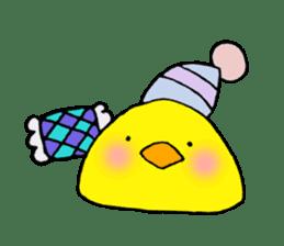 The chicken of a red cheek sticker #545182