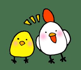 The chicken of a red cheek sticker #545191