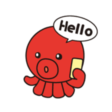 Takochin (A lovely octopus) sticker #545197