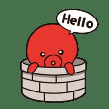 Takochin (A lovely octopus) sticker #545199