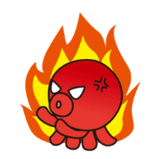 Takochin (A lovely octopus) sticker #545207