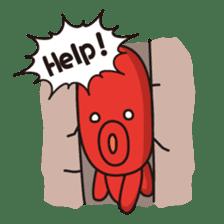 Takochin (A lovely octopus) sticker #545210
