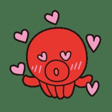 Takochin (A lovely octopus) sticker #545218