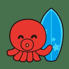 Takochin (A lovely octopus) sticker #545222