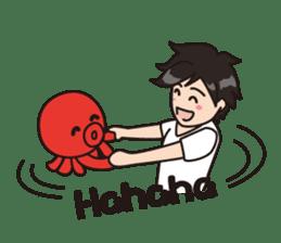 Takochin (A lovely octopus) sticker #545231