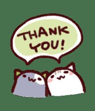 White Cat and Gray Cat sticker #545637