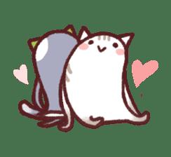 White Cat and Gray Cat sticker #545639