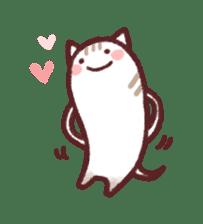 White Cat and Gray Cat sticker #545657