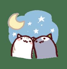 White Cat and Gray Cat sticker #545665