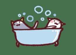 White Cat and Gray Cat sticker #545668