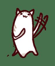 White Cat and Gray Cat sticker #545670