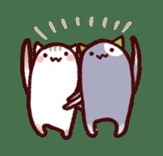 White Cat and Gray Cat sticker #545673