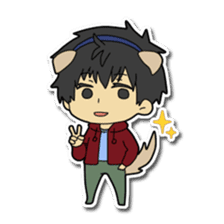 Dog boy and Cat girl sticker #548314