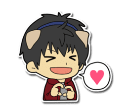 Dog boy and Cat girl sticker #548316