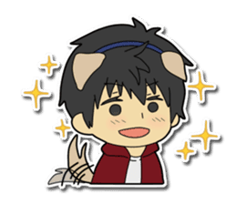 Dog boy and Cat girl sticker #548318