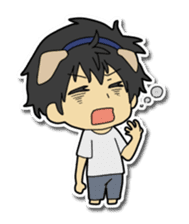Dog boy and Cat girl sticker #548335
