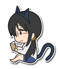 Dog boy and Cat girl sticker #548340