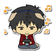 Dog boy and Cat girl sticker #548347