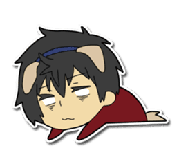 Dog boy and Cat girl sticker #548351