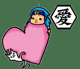 Baby Ninja & Dog Shiro sticker #549005
