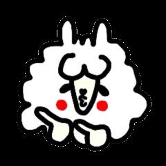 Alpaca of drooping eyes(Reaction series)