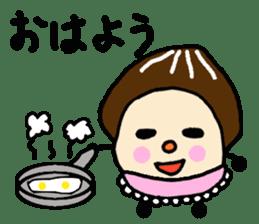 Fairy of the Japanese mushroom shiitake. sticker #549594