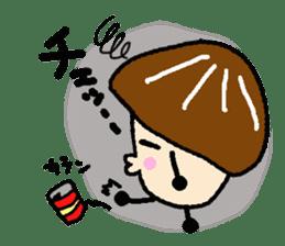Fairy of the Japanese mushroom shiitake. sticker #549599