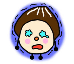 Fairy of the Japanese mushroom shiitake. sticker #549601