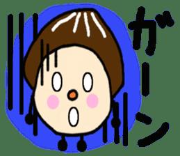 Fairy of the Japanese mushroom shiitake. sticker #549608