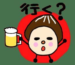 Fairy of the Japanese mushroom shiitake. sticker #549609