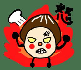 Fairy of the Japanese mushroom shiitake. sticker #549628