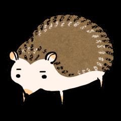Hedgehog Charactor Stamp