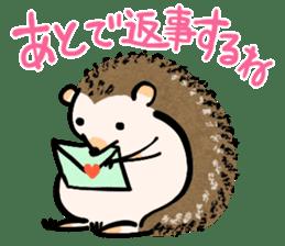 Hedgehog Charactor Stamp sticker #550037