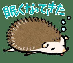 Hedgehog Charactor Stamp sticker #550038