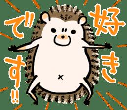Hedgehog Charactor Stamp sticker #550039