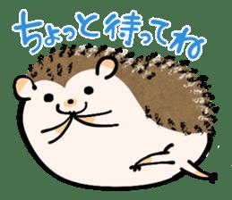 Hedgehog Charactor Stamp sticker #550041