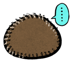 Hedgehog Charactor Stamp sticker #550043