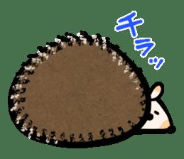 Hedgehog Charactor Stamp sticker #550044